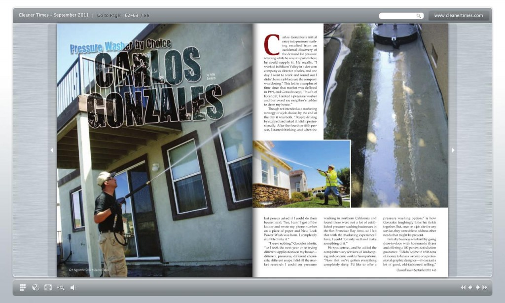 San Francisco Based New Look Power Wash Magazine Article